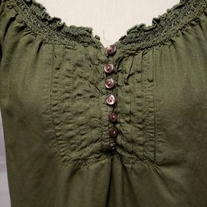 Cute green faded glory short sleeve blouse